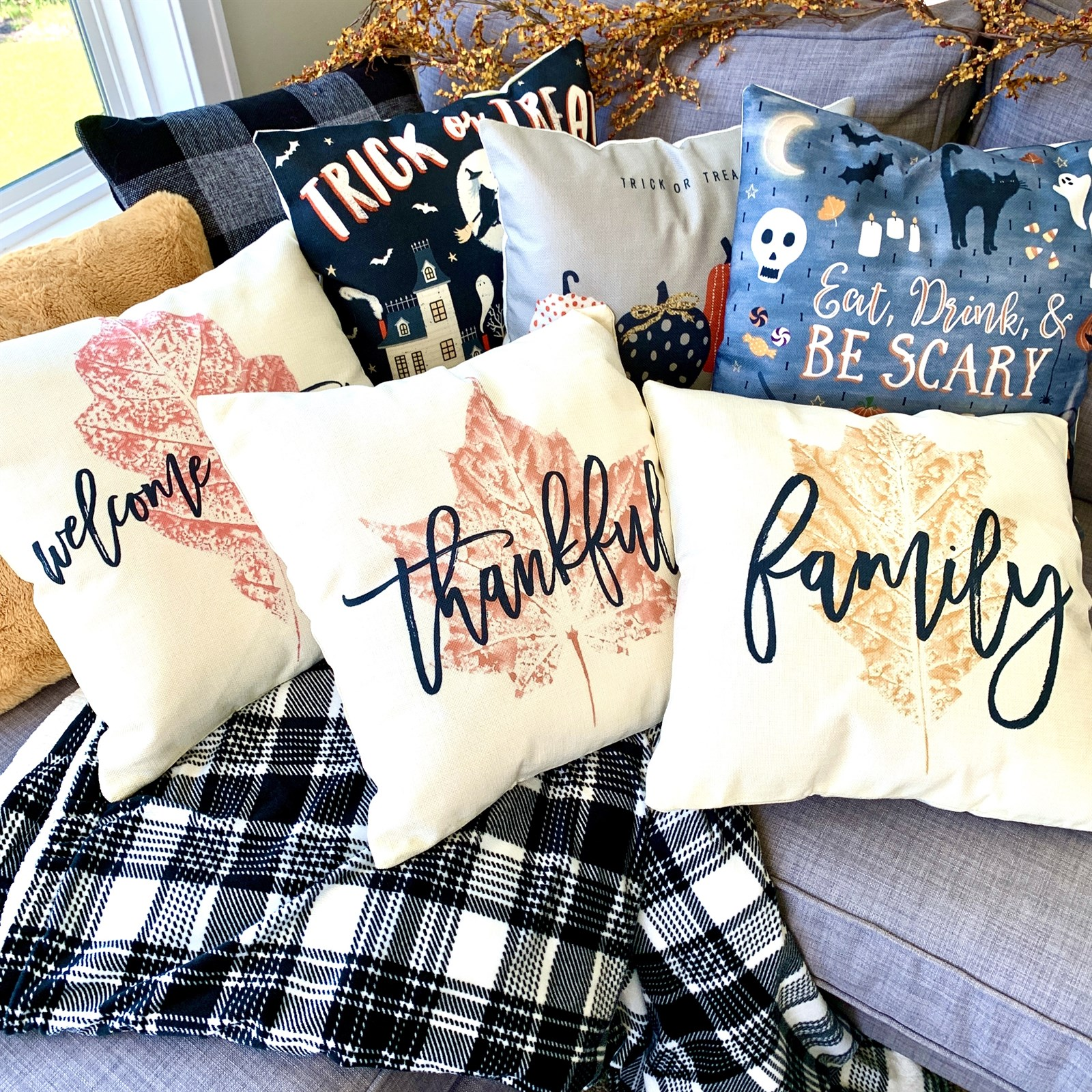 Fall And Halloween Pillow Covers Jane