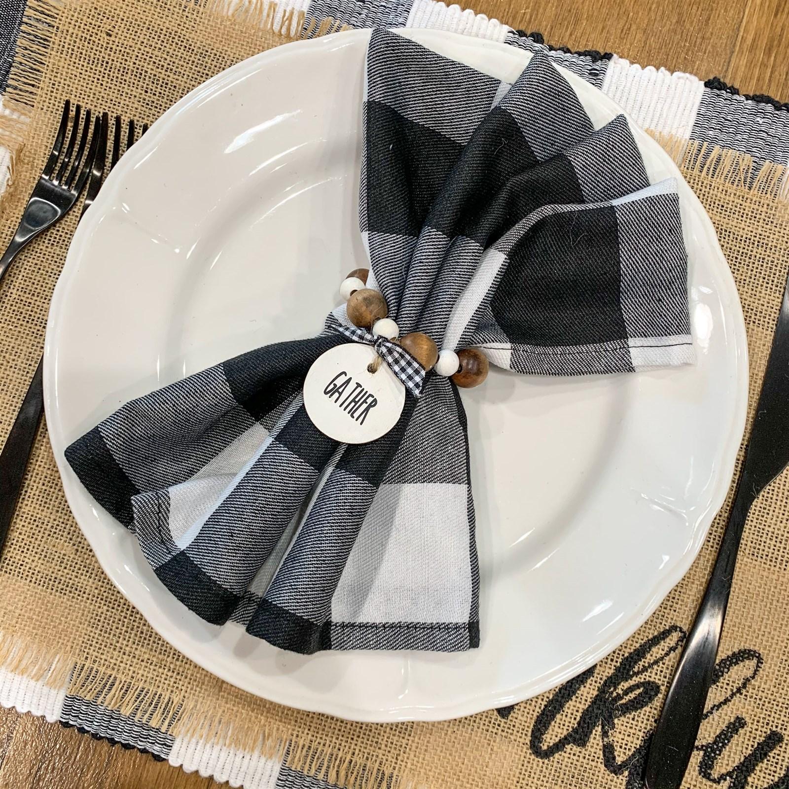 Farmhouse Holiday Napkin Ring Sets Jane