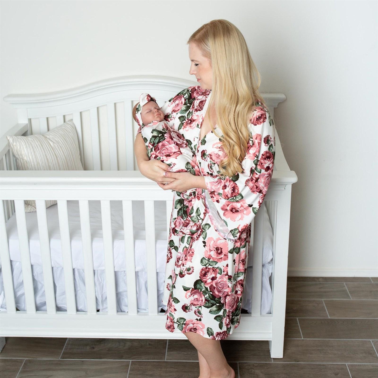 Maternity Robe And Swaddle Blanket Set Jane