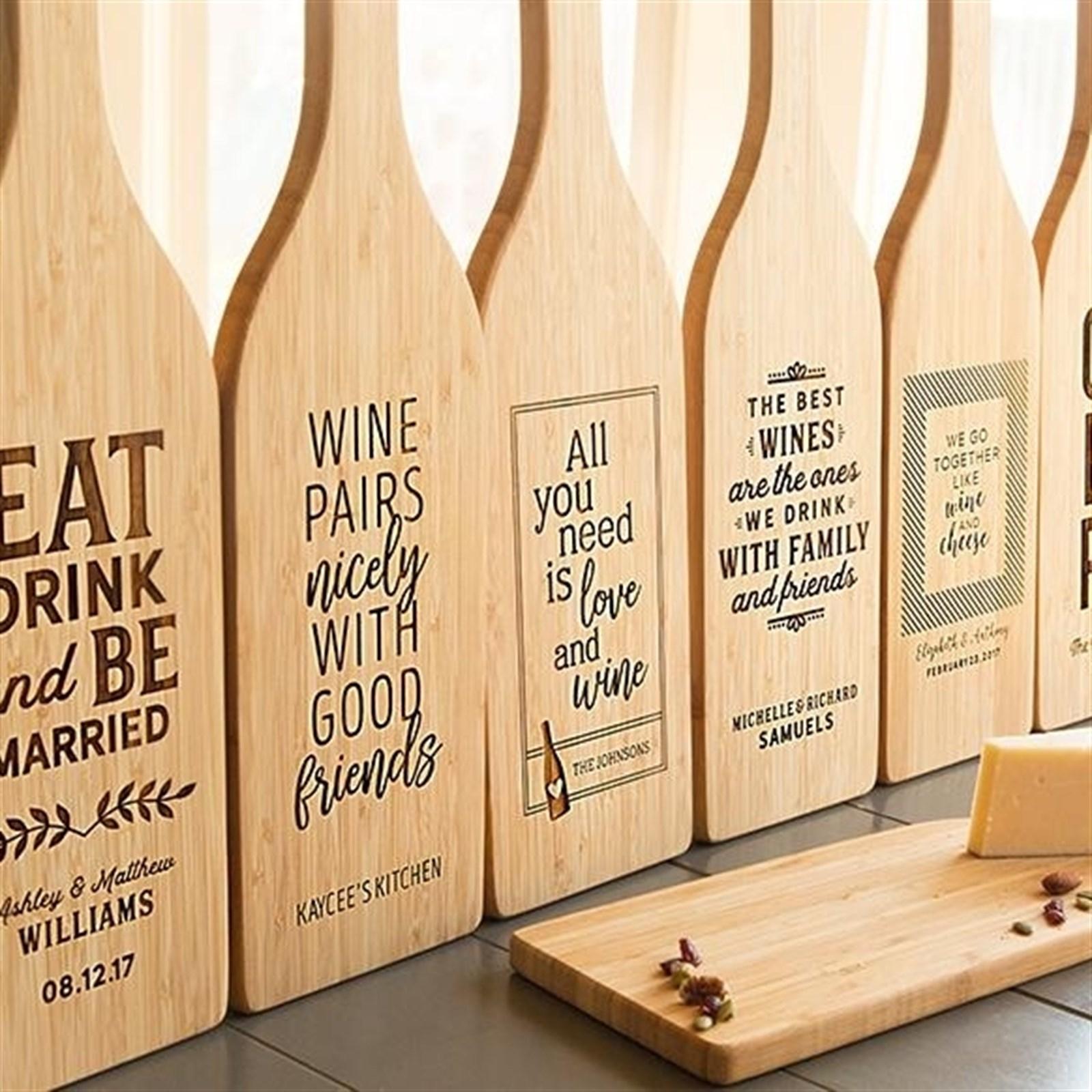 Personalized Cutting Board Custom Cutting Board Housewarming Family Kitchen 11 x 14 Bamboo Wood --6000 Engraved Cutting Board