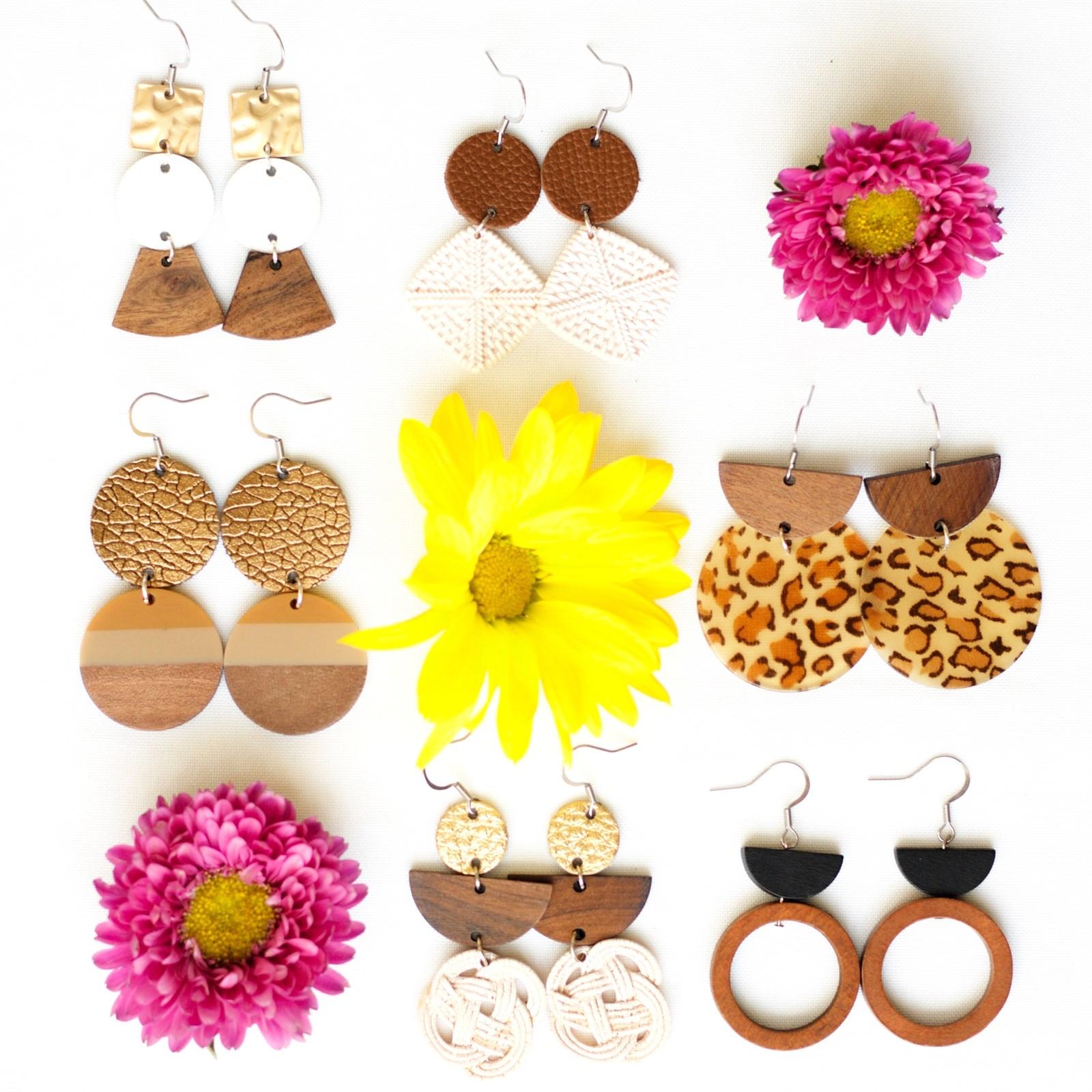 Rattan Inspired Earrings