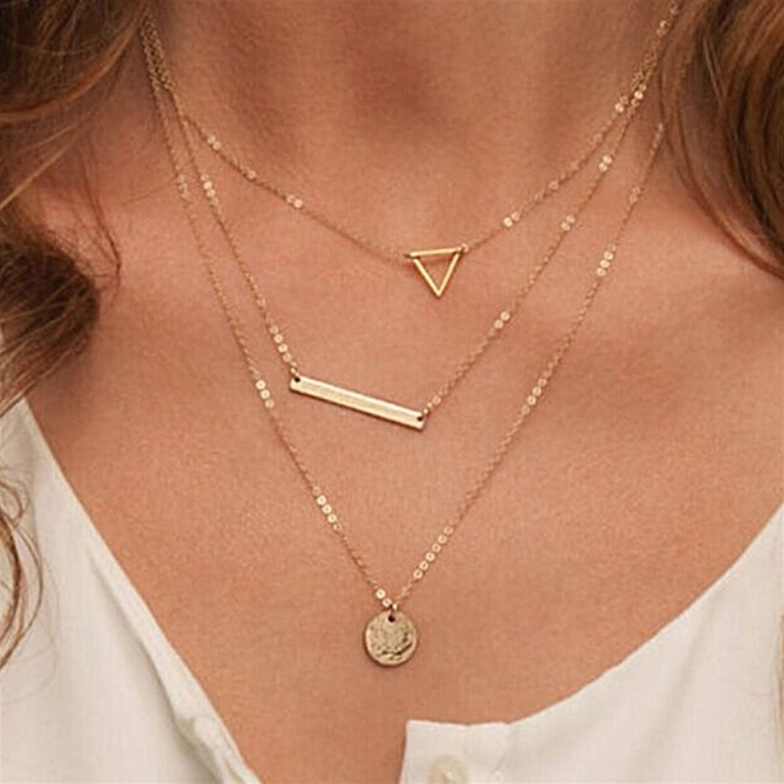 Gold Layered Necklace Sets