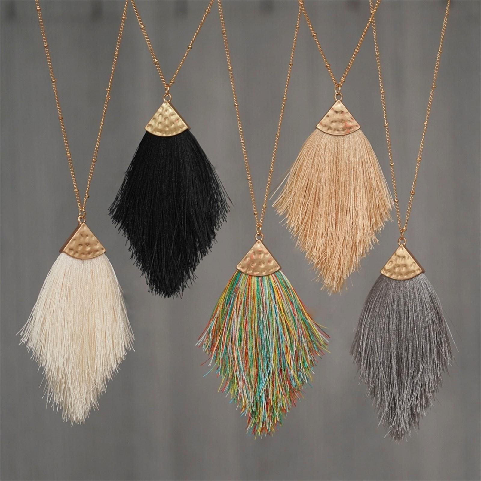 Soft Tassel Necklaces