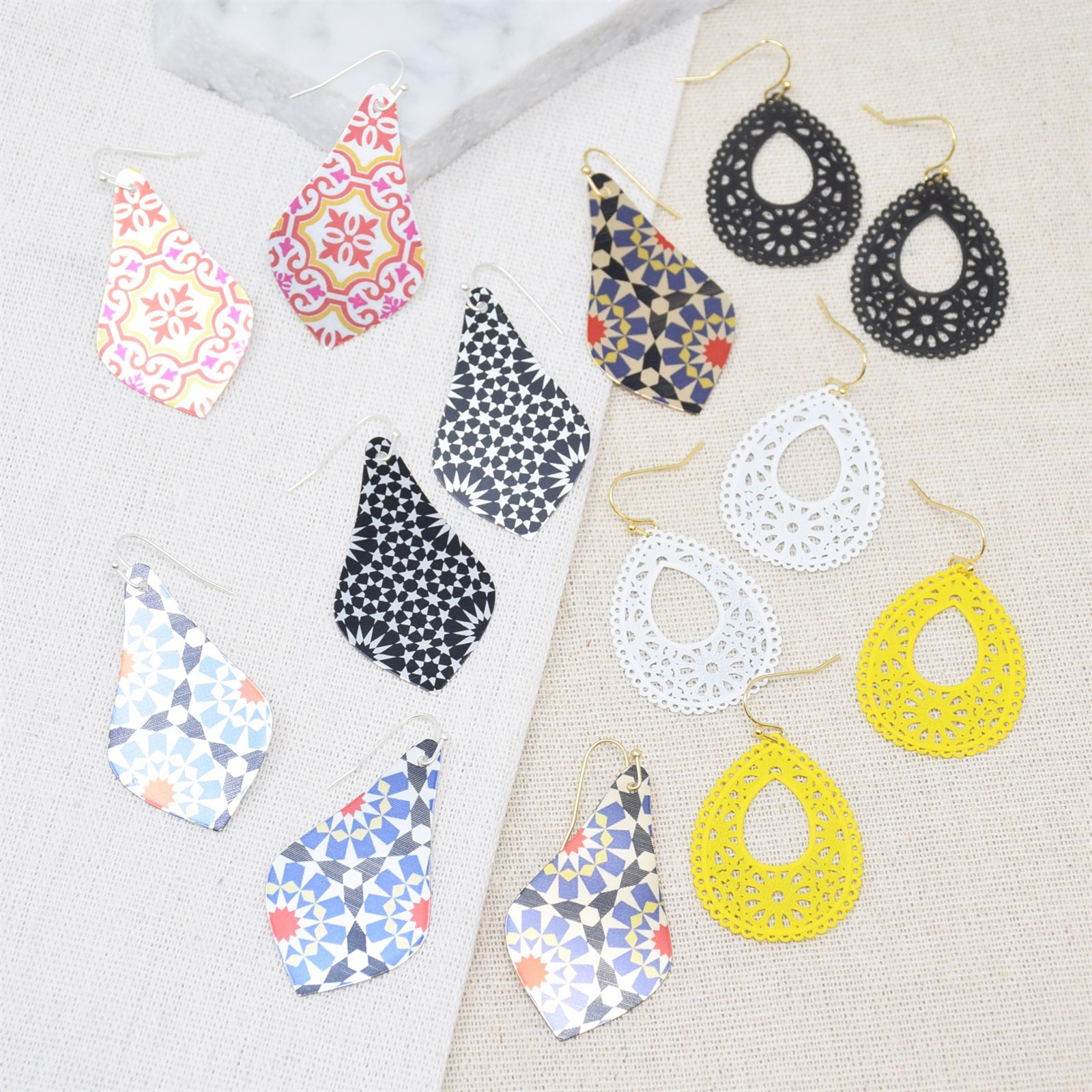 Spring Mosaic Earring Collection