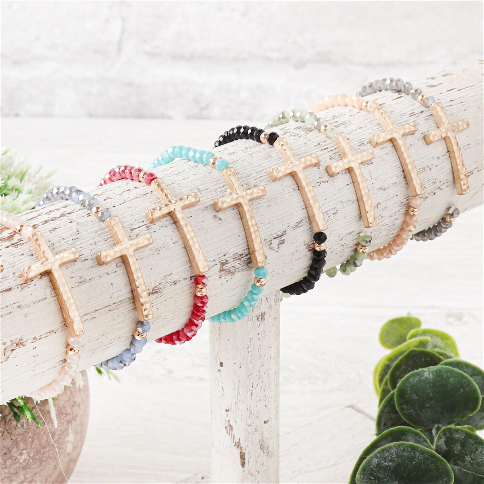 Rondelle Cross Bracelets