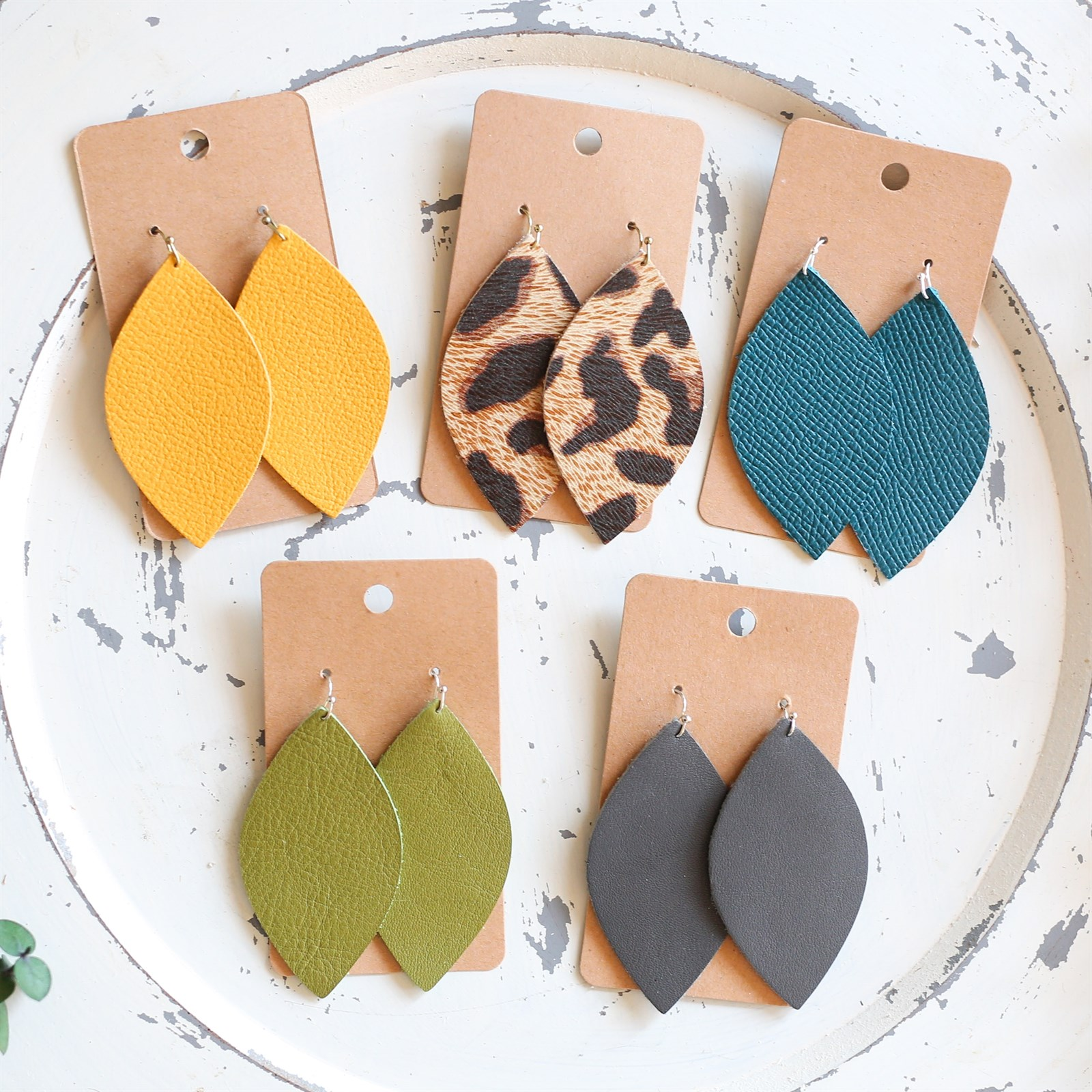 Leather Leaf Everyday Earring Collection