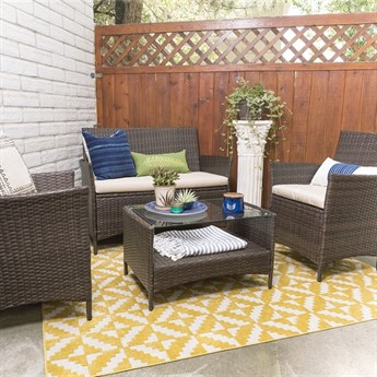 Patio Chat Set | 4 Piece | Free Shipping!