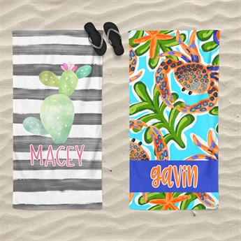 luxurious personalized beach towels new designs jane