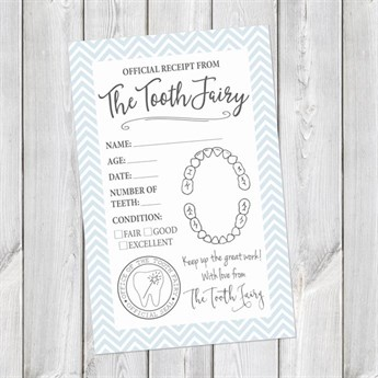 printable tooth fairy receipts digital download