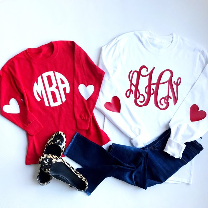 Monogram Heart Tees Only $16.99 **Youth & Adult Sizes**