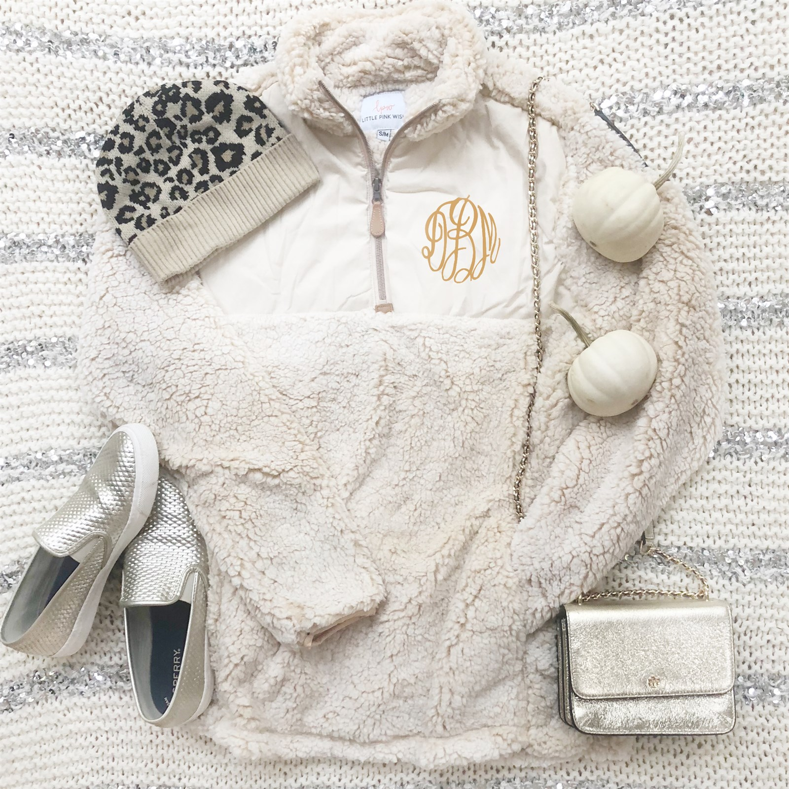 Monogrammed Luxe Sherpa Pullover / Free Shipping