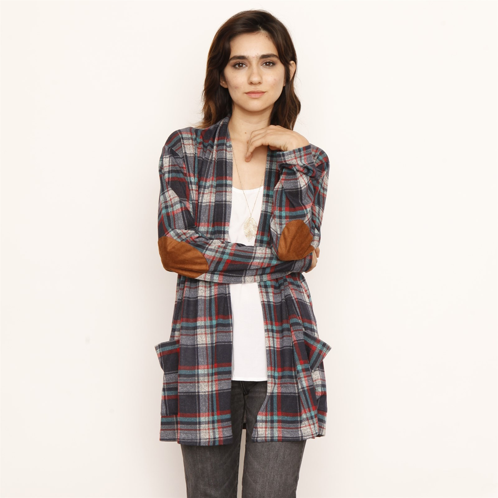 Plaid Cardigan with Pocket Only $15.99 w/ Free Shipping