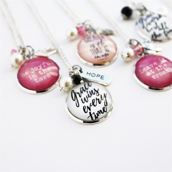Scripture Inspired Pendants Only $8.99 w/ Free Shipping