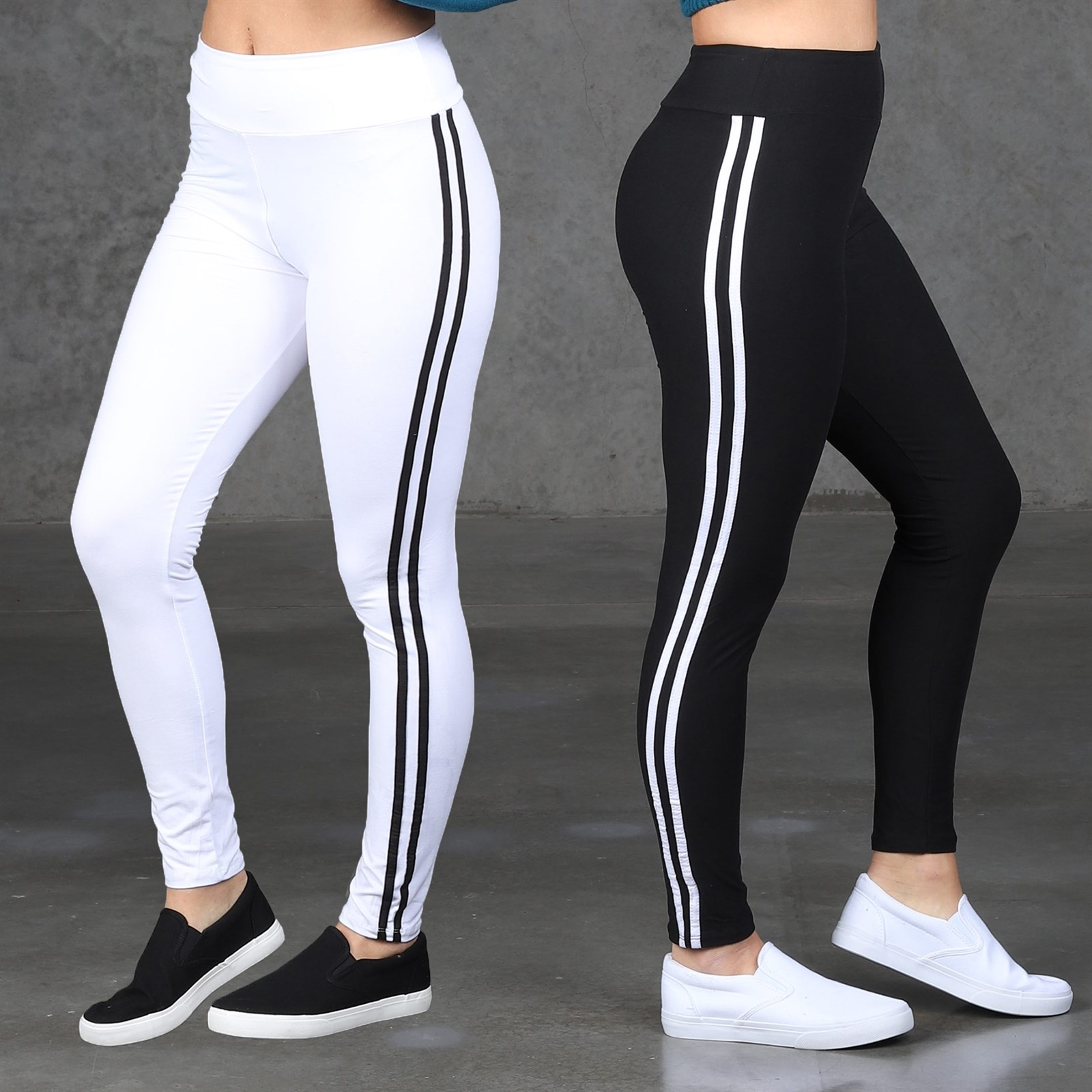 Flat Waist Striped So Soft Leggings / 2 Sizes