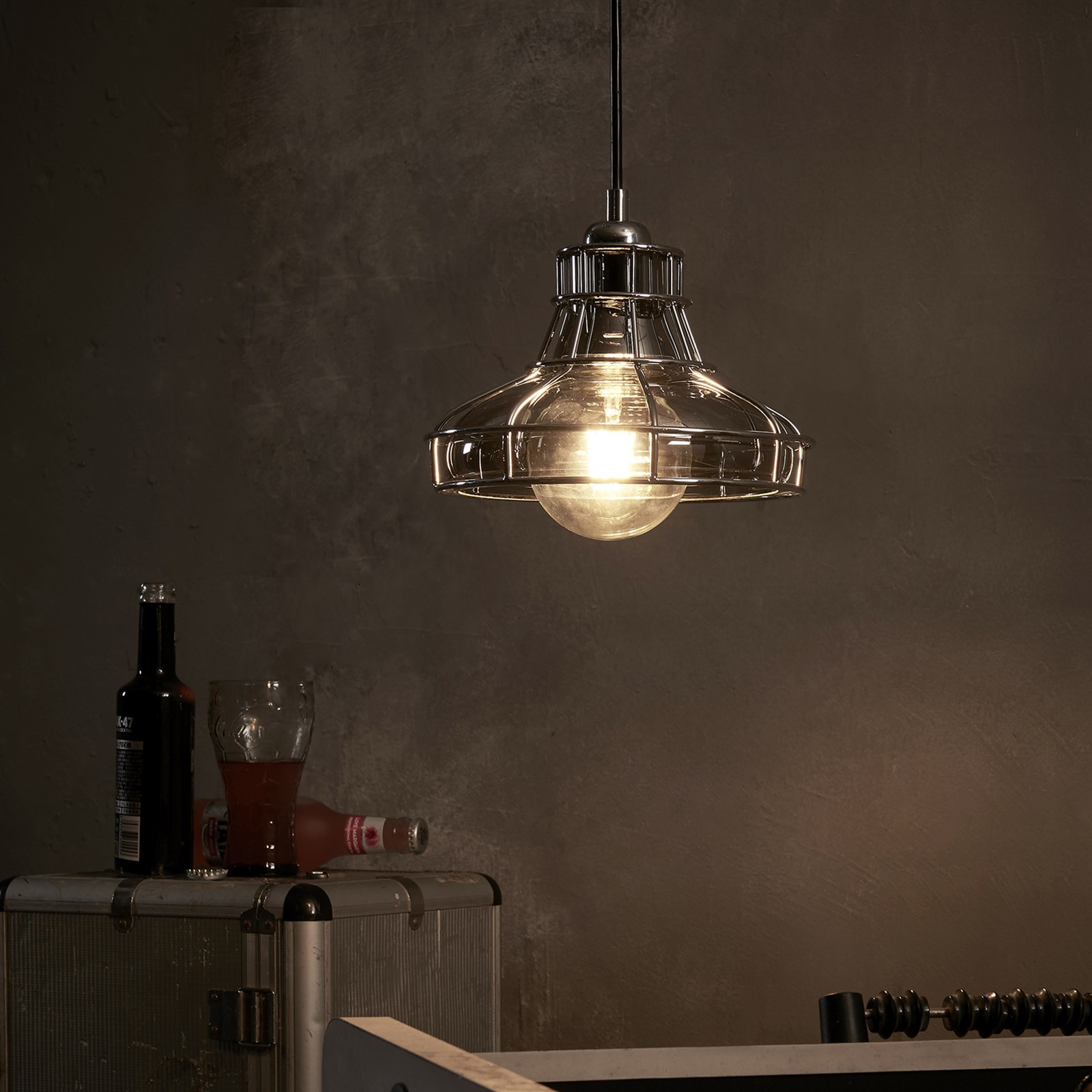Illusione Metal Pendant Lamp with Cage / Free Shipping Only $32.99