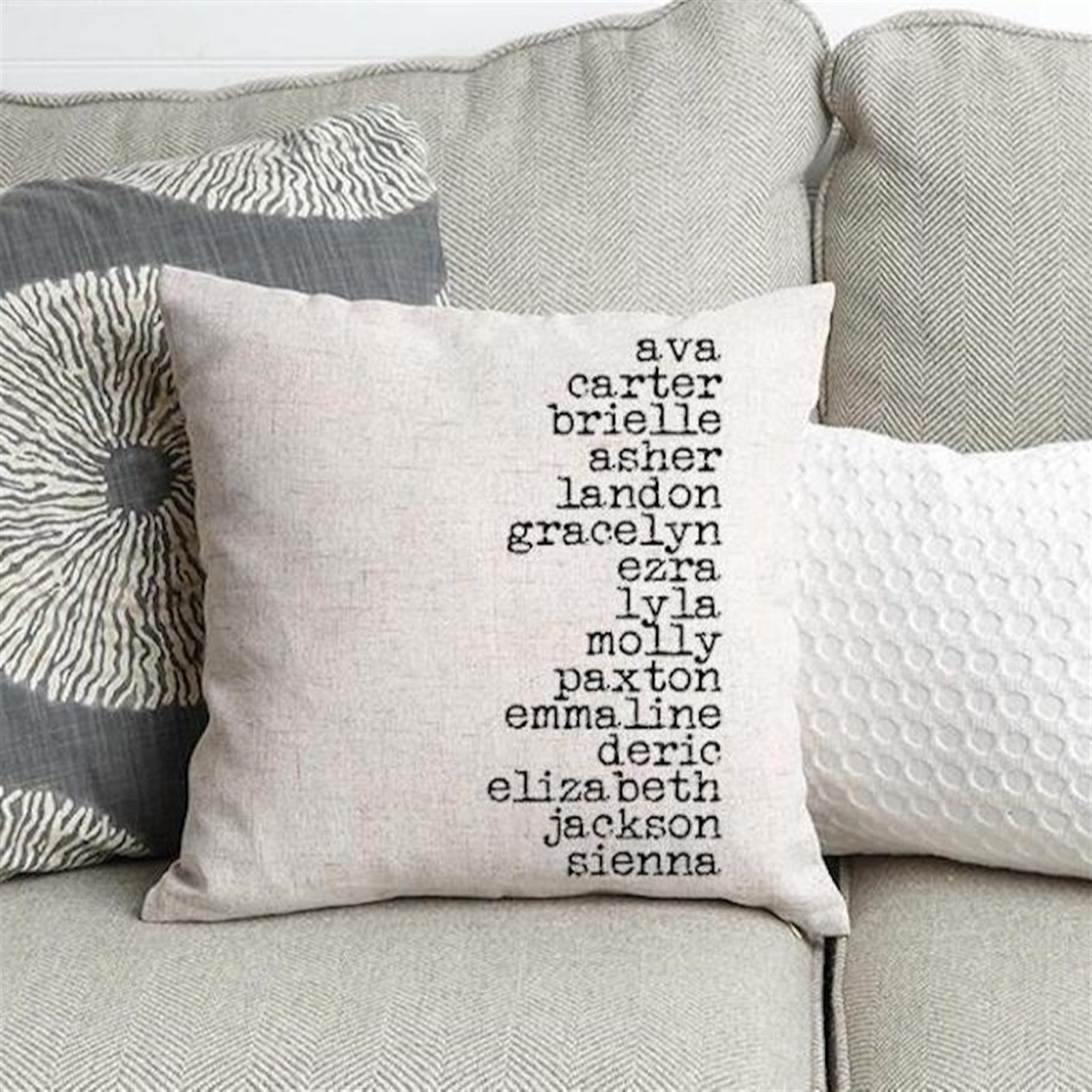 Personalized Throw Pillow Cover w/ Free Shipping Only $11.99