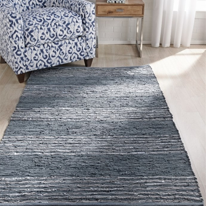 Handmade Recycled Leather Metallic Rugs Only $34.99 (Was $350)