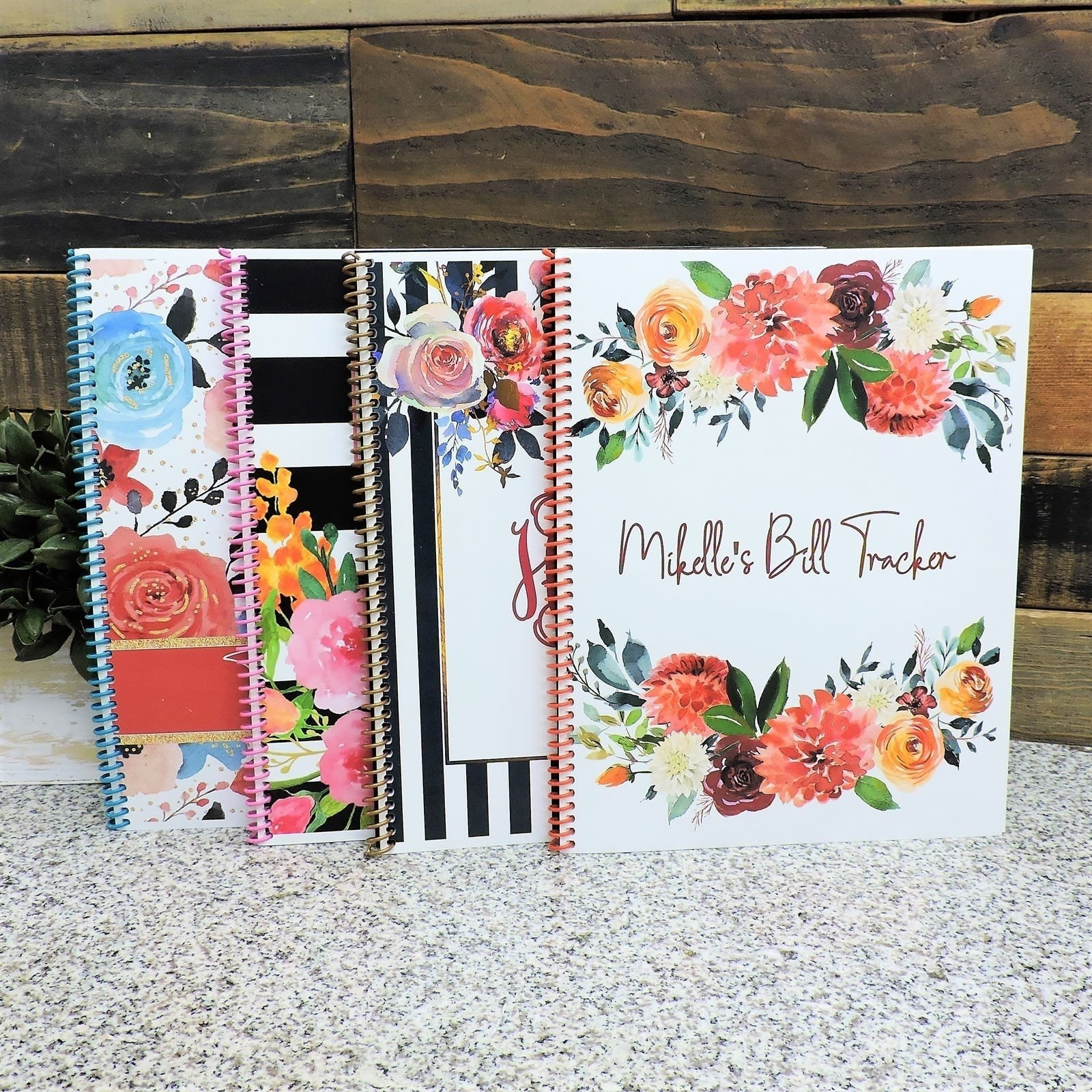 Personalized Bill Tracker Journal w/Stickers Only $12.99