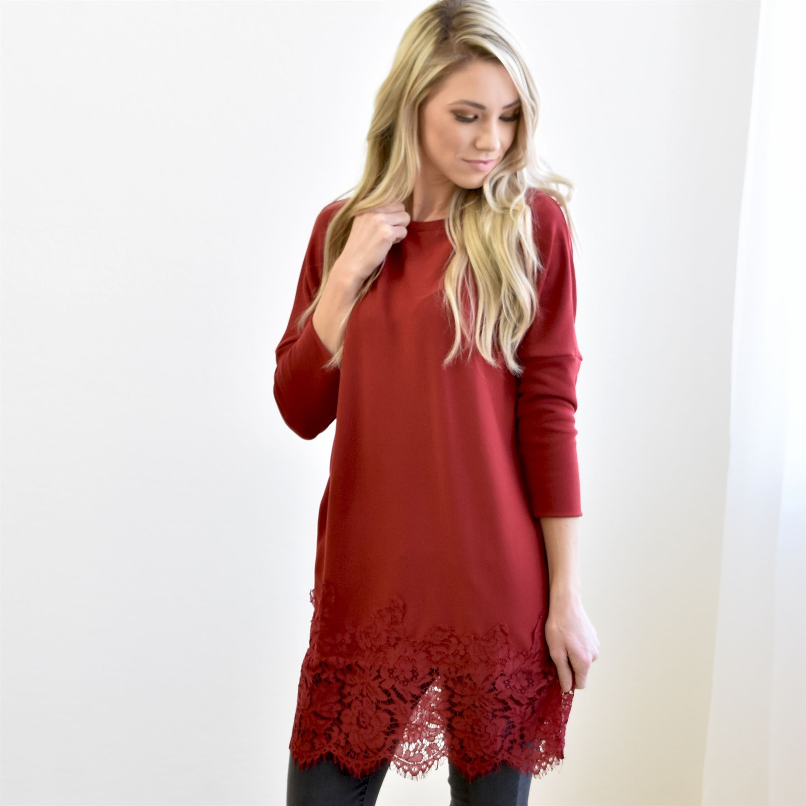 Waldorf Lace Contrast Sweater