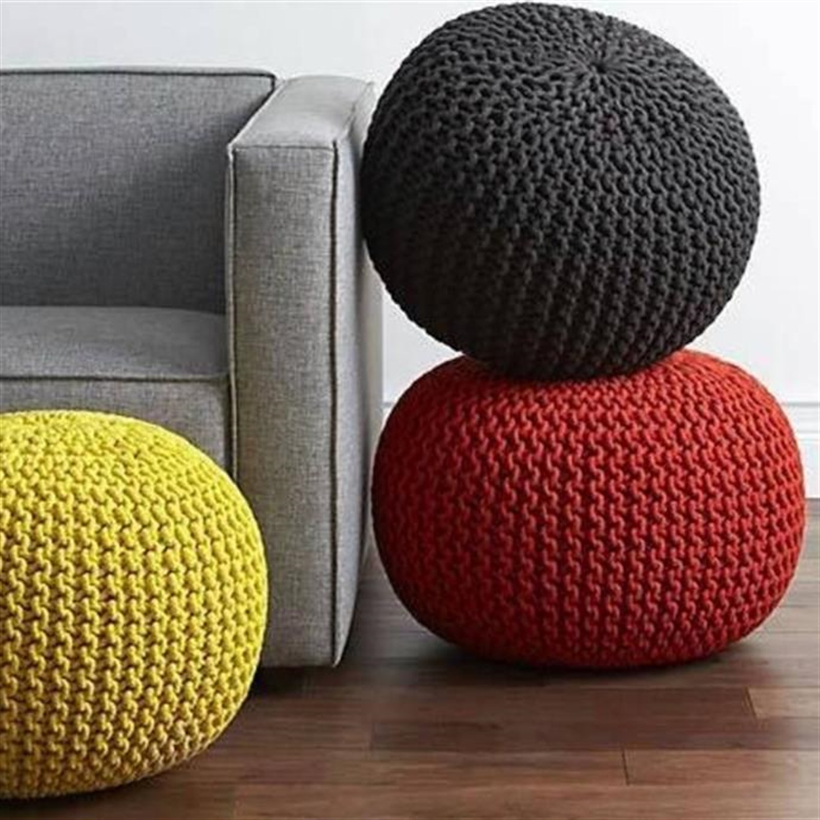 Handmade Gumdrop Knitted Pouf Only $35.99 w/ Free Shipping