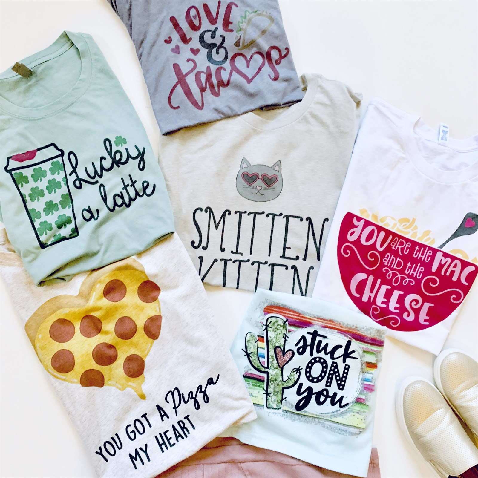 Pizza My Heart Valentine Tees