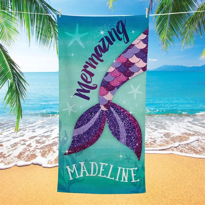 Personalized Kids Fleece Beach Towels Only $16.99