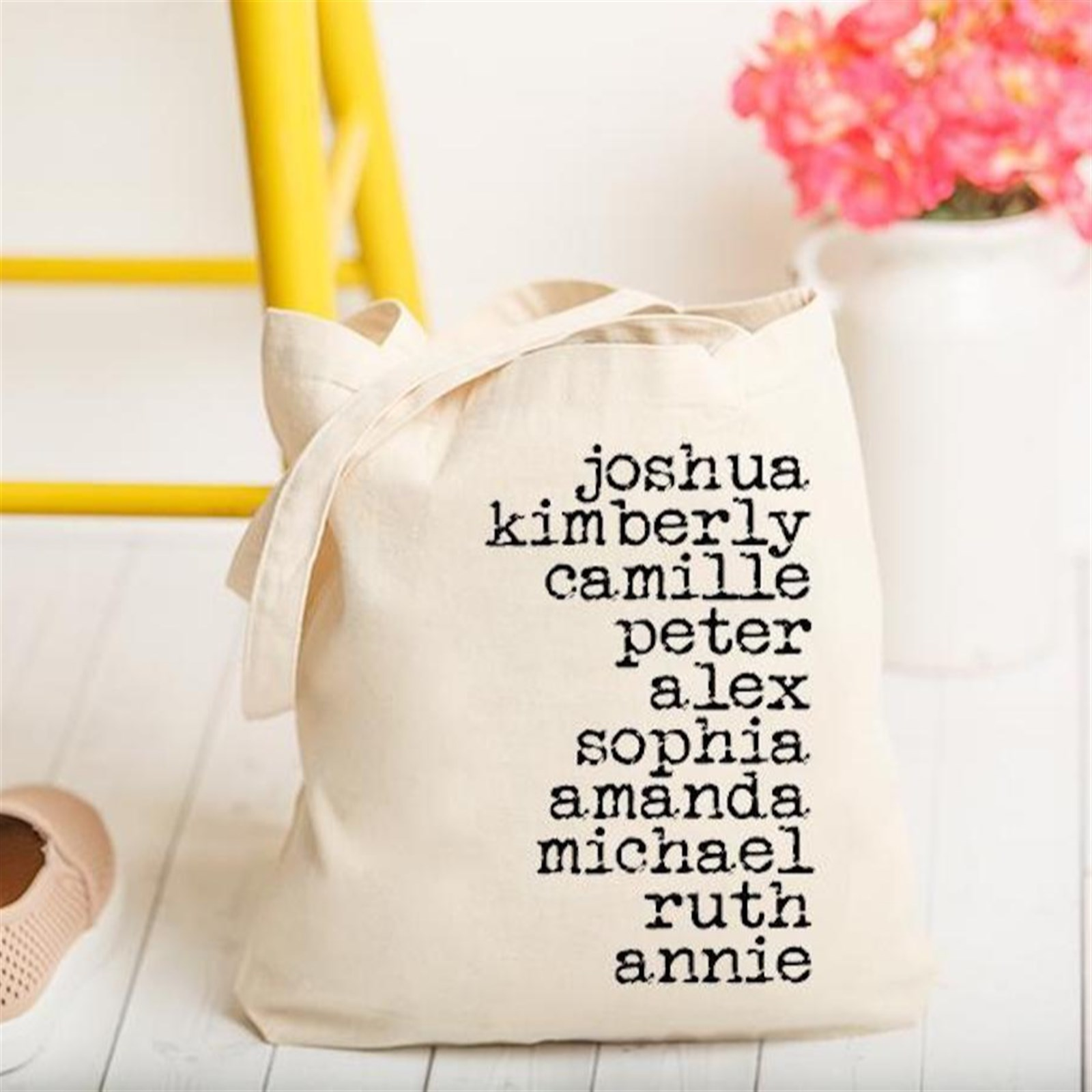 Personalized Family Name Tote Bags Only $12.99 w/ Free Shipping