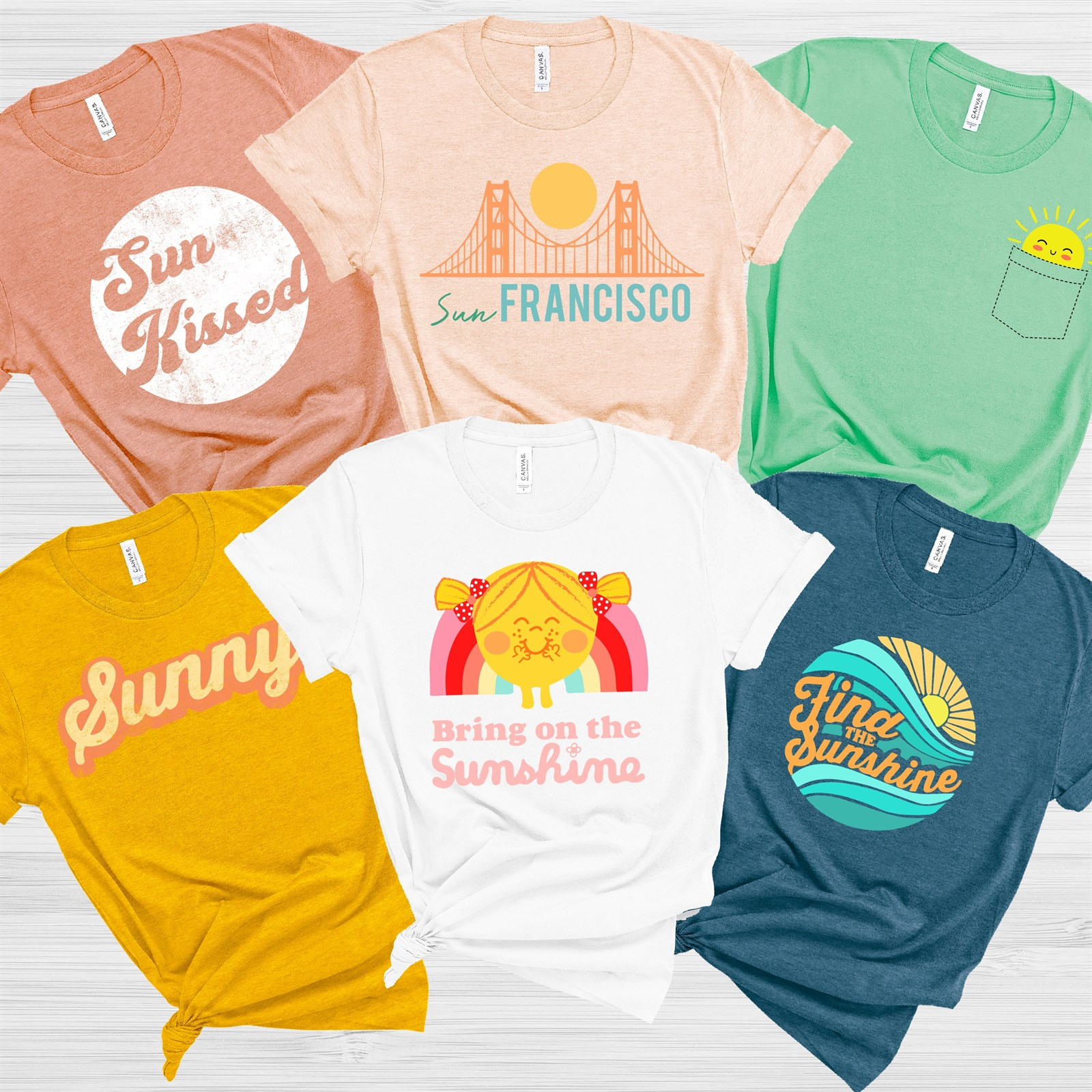 Sunshine Soft Bella Canvas Graphic Tees