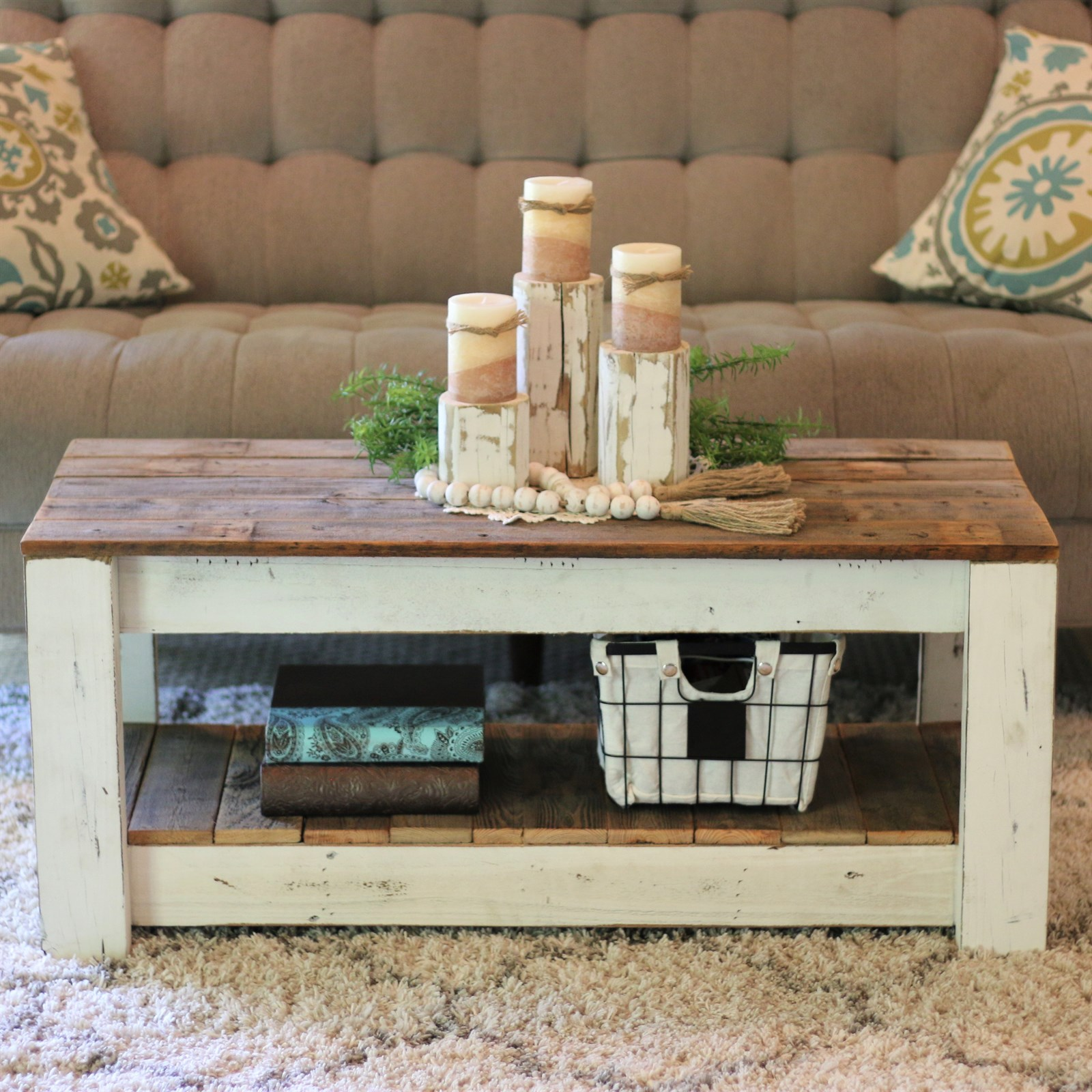 Rustic Farmhouse Coffee Table Only $139.99 w/ Free Shipping