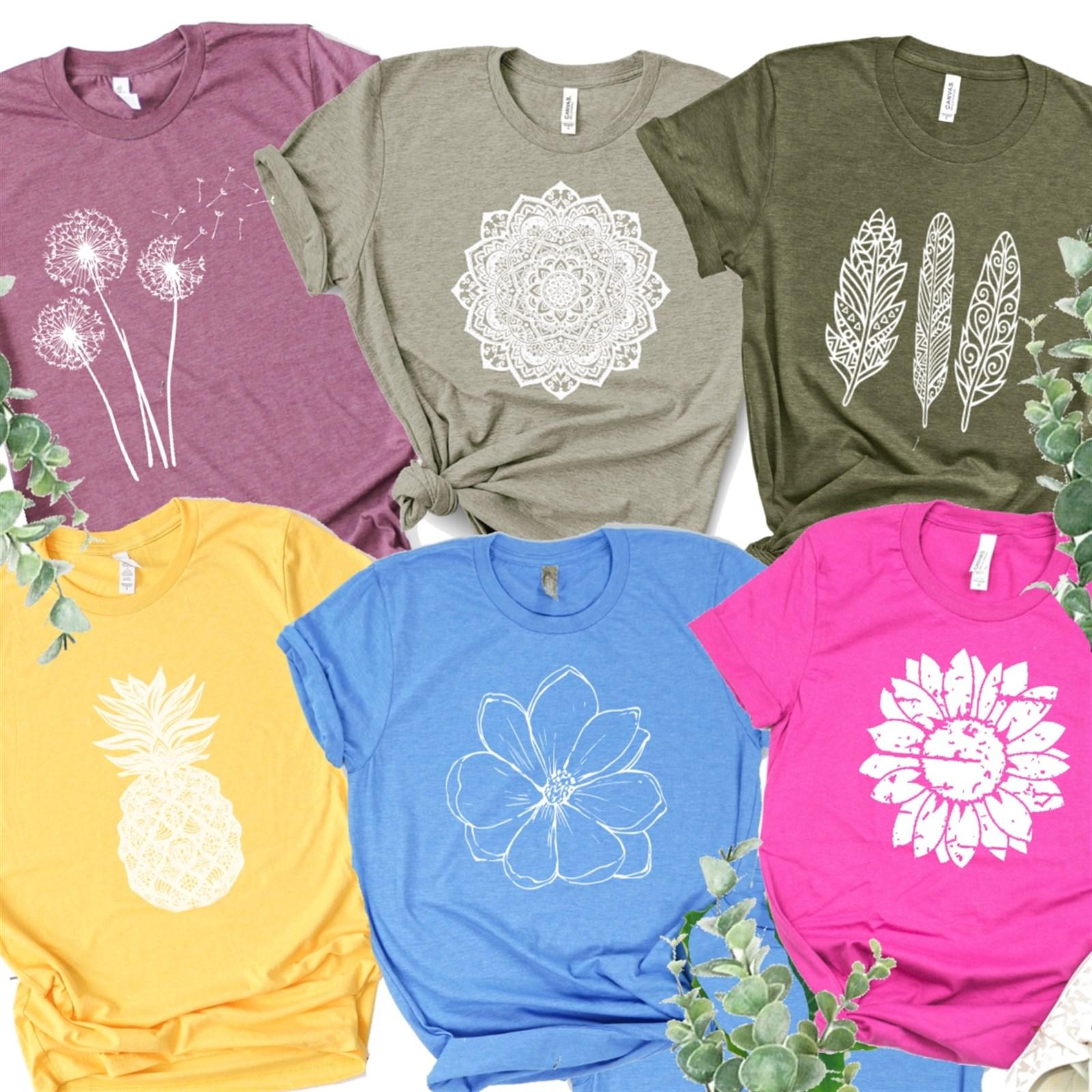 Fun Spring Tees / Several Designs