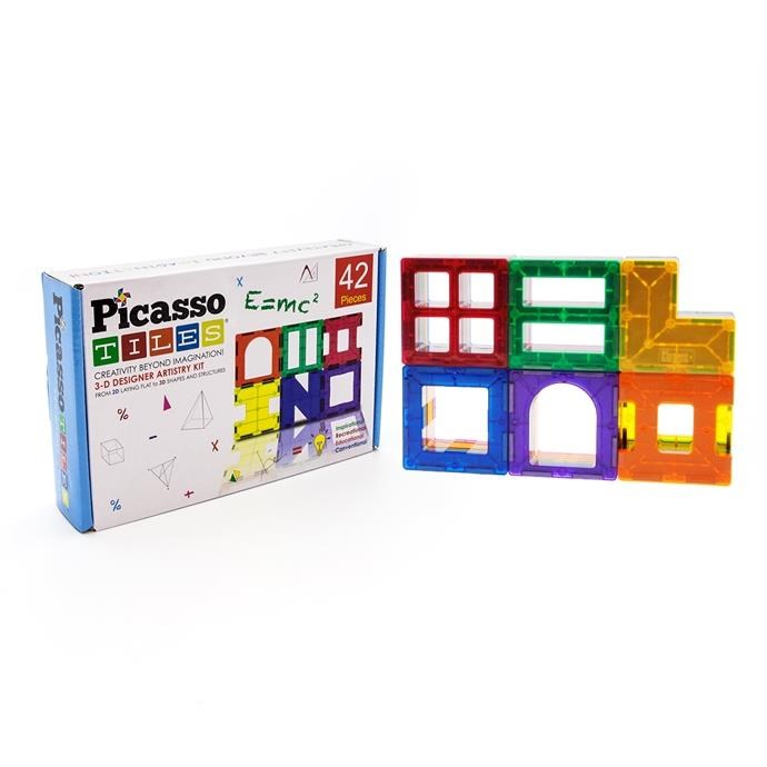 PicassoTiles Magnetic Tiles / 42 Piece Only $27.99 w/ Free Shipping