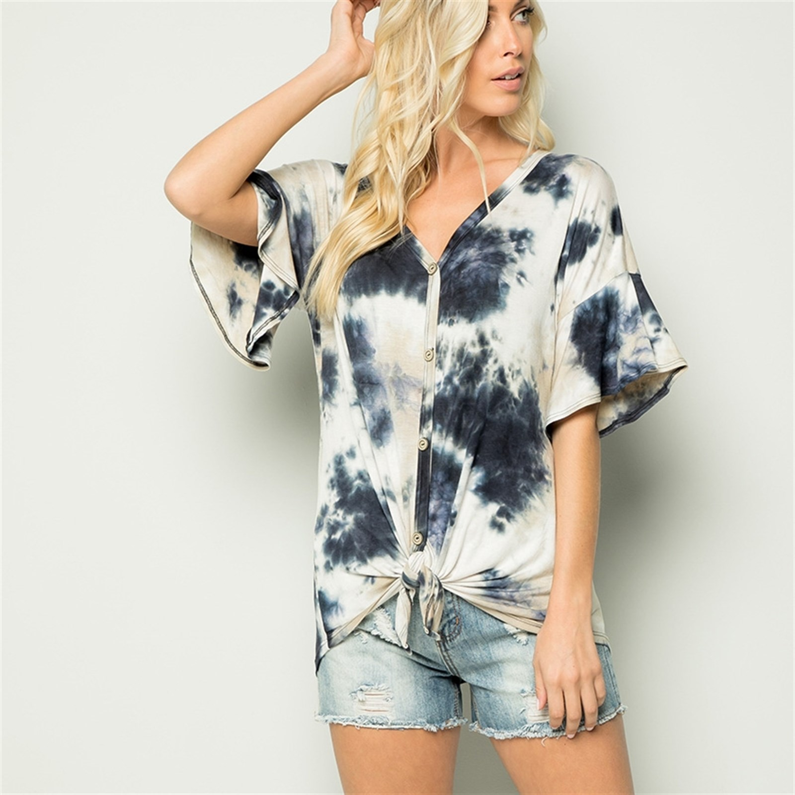 Tie-Dyed Jersey Top / S-3XL