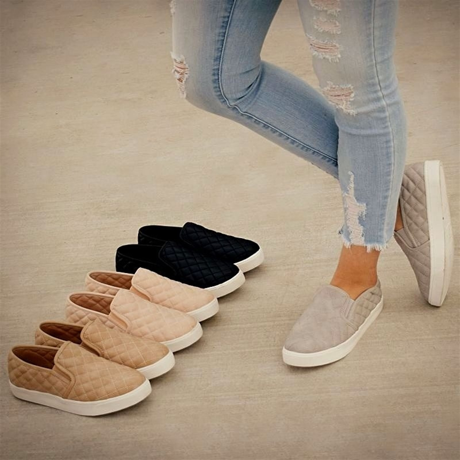 Comfort Cushion Quilted Sneakers