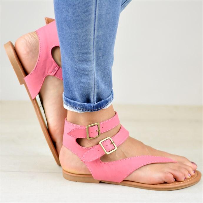 Double Wrap Buckle Sandals