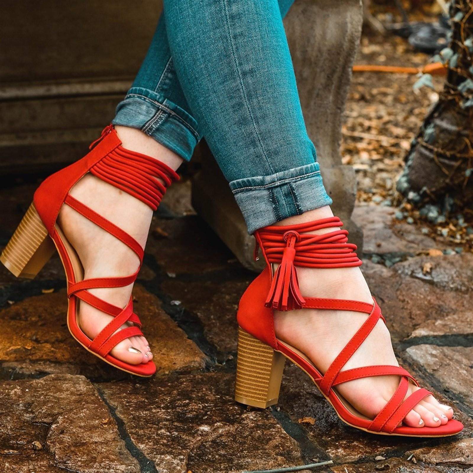 Strappy Tassel High Heels