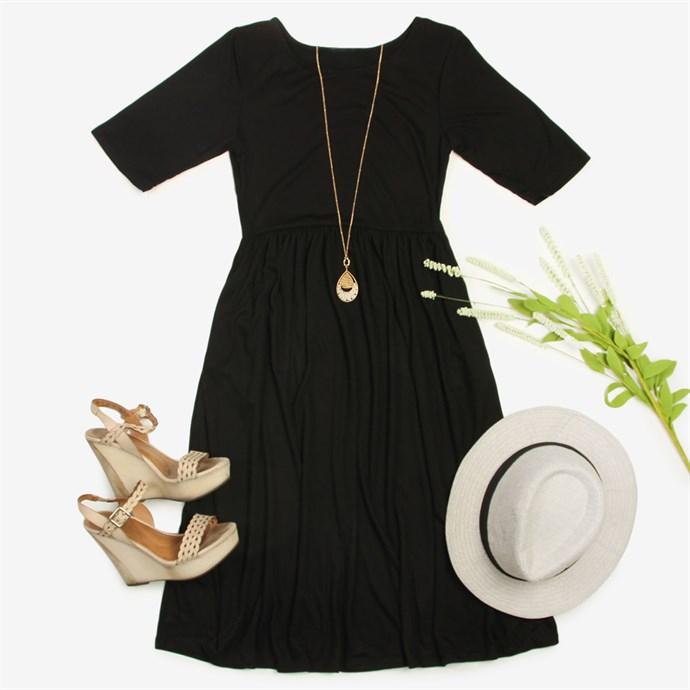 Casual Empire Waist Dress / S-3X