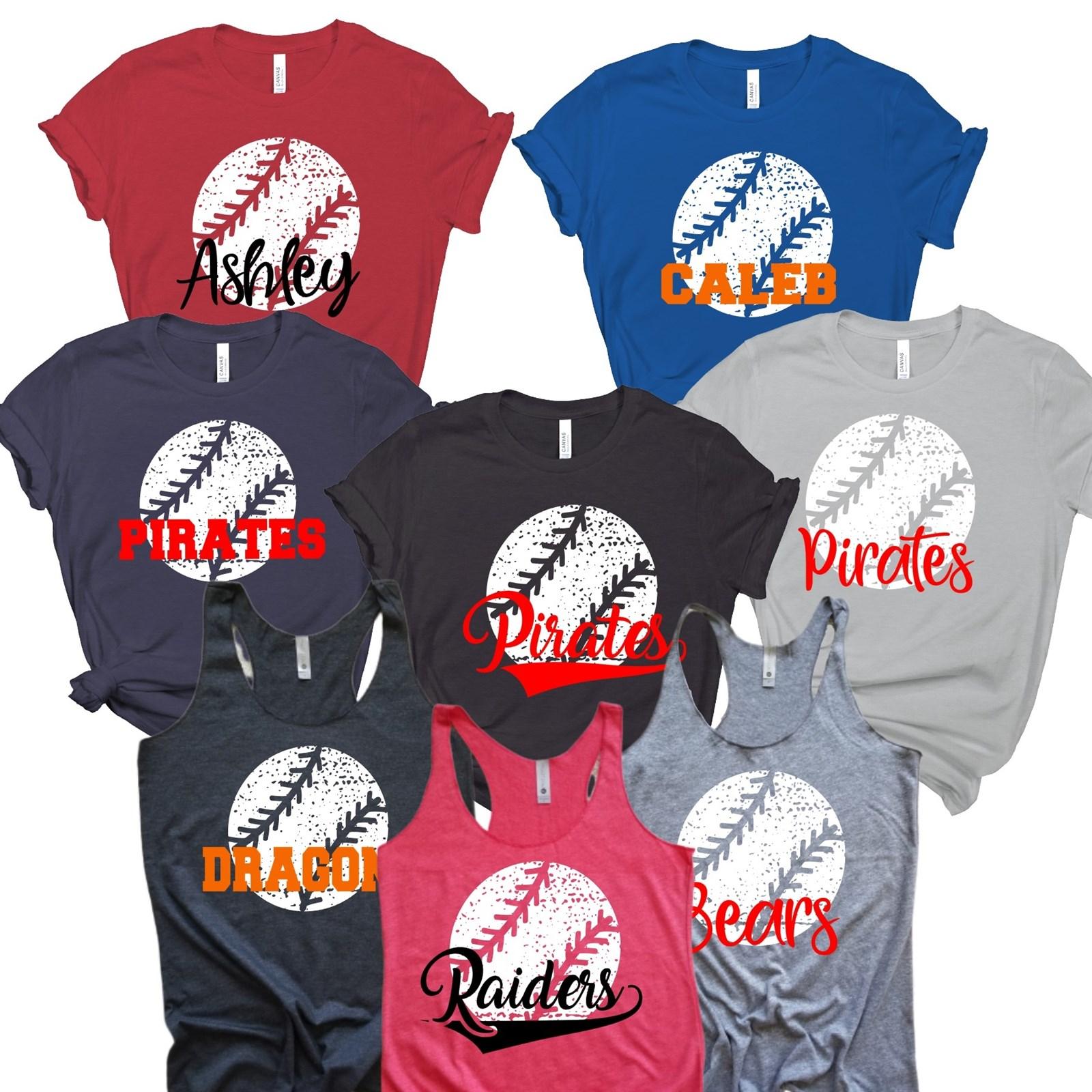 e737e4a9f825d Personalized Team Baseball Shirts | Youth-Adult