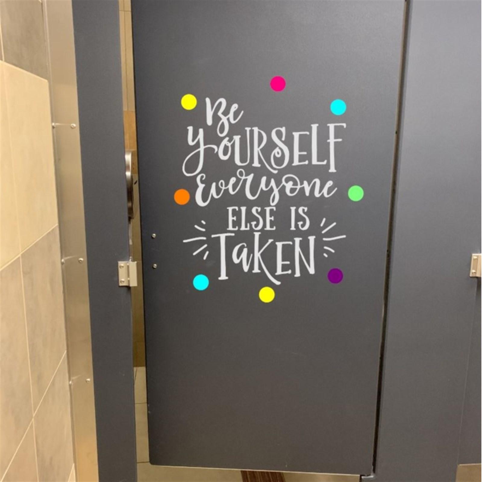 Bathroom Door Decals Jane