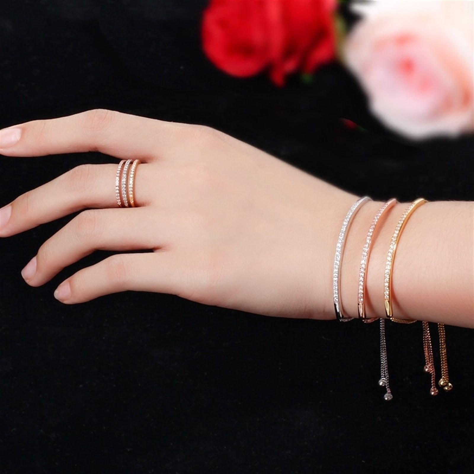 CZ Long Bar Adjustable Bracelet Only $5.99 w/ Free Shipping
