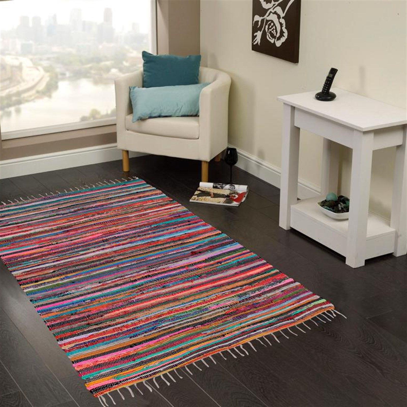 100% Recycled Cotton Rug 4'x6' Only $29.99 w/ Free Shipping