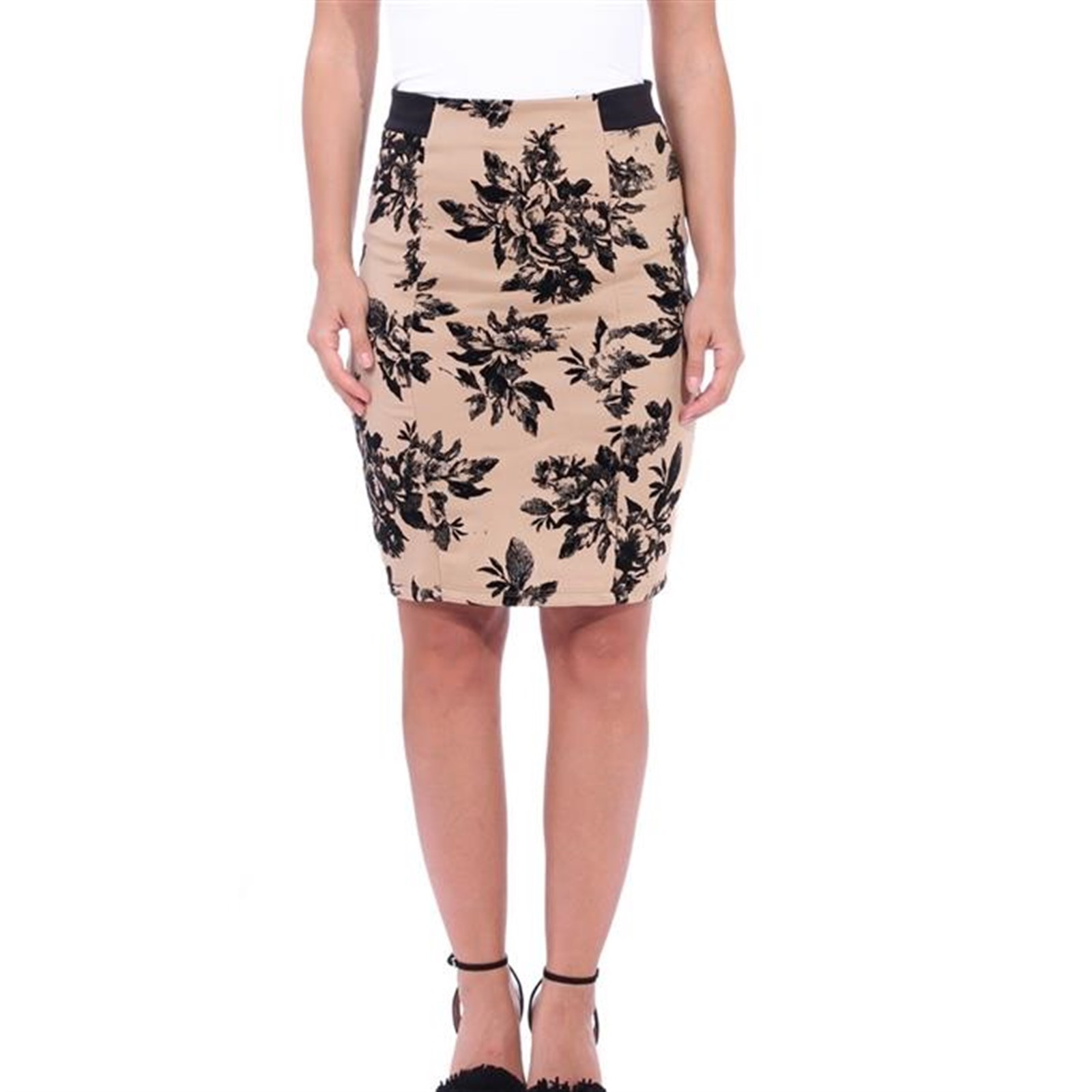 Floral High Waist Pencil Skirt Only $7.99 w/ Free Shipping