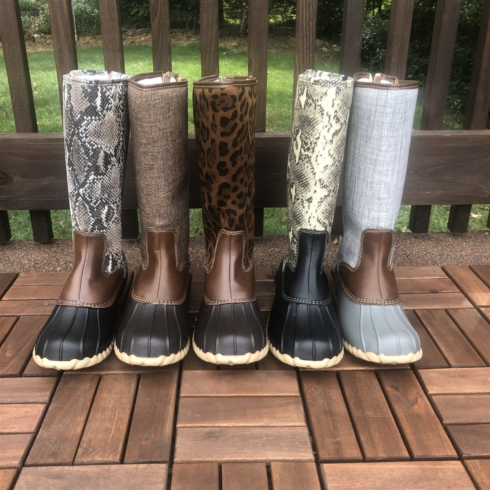 Patterned Duck Boots
