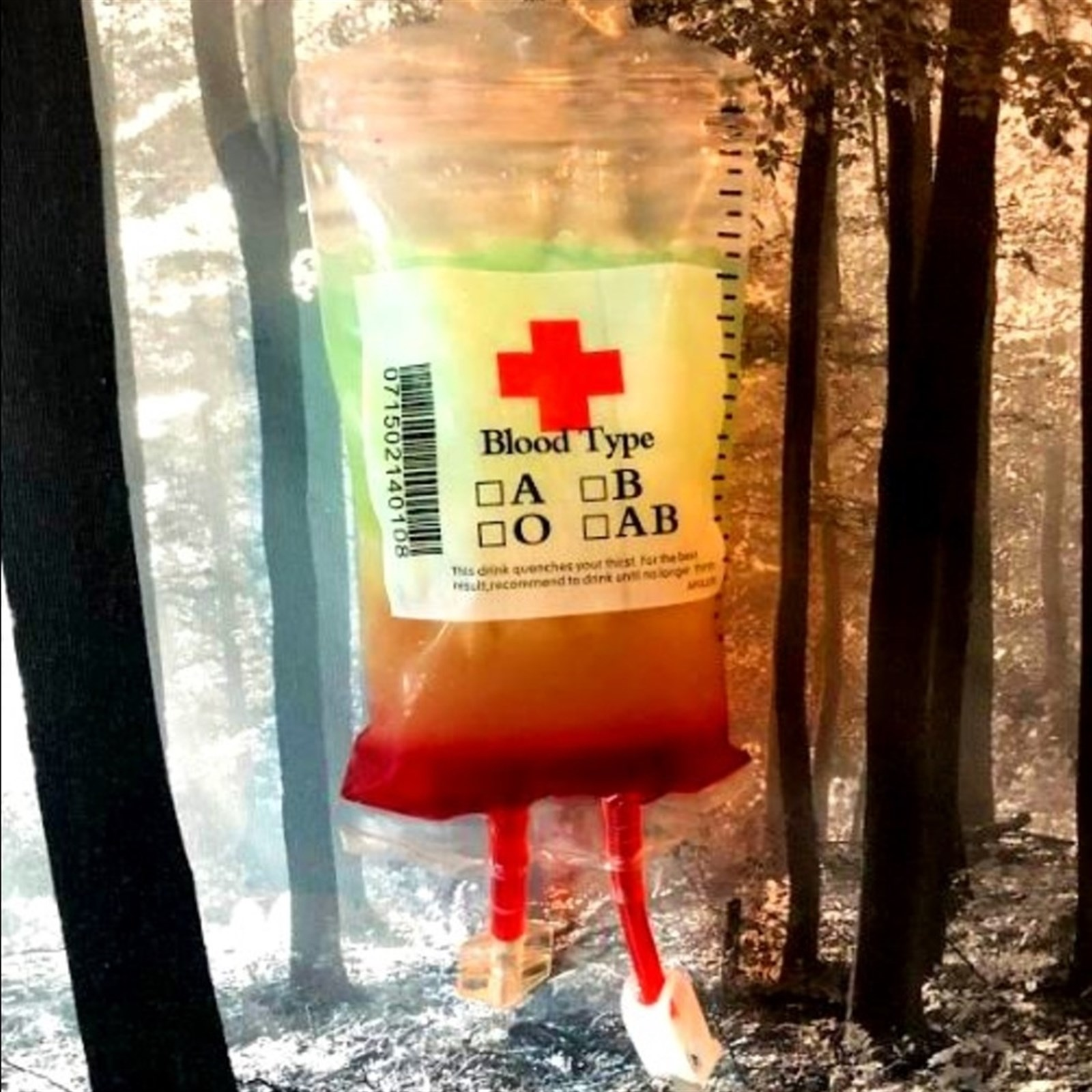 REUSABLE IV BLOOD BAGS HALLOWEEN PARTY HAUNTED HOUSE DRINK CONTAINER NEU P0T4
