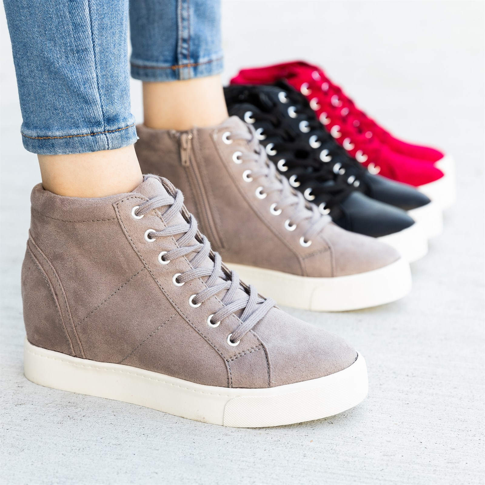 aliexpress sale usa online offer discounts Trendy Lace-Up Sneaker Wedges