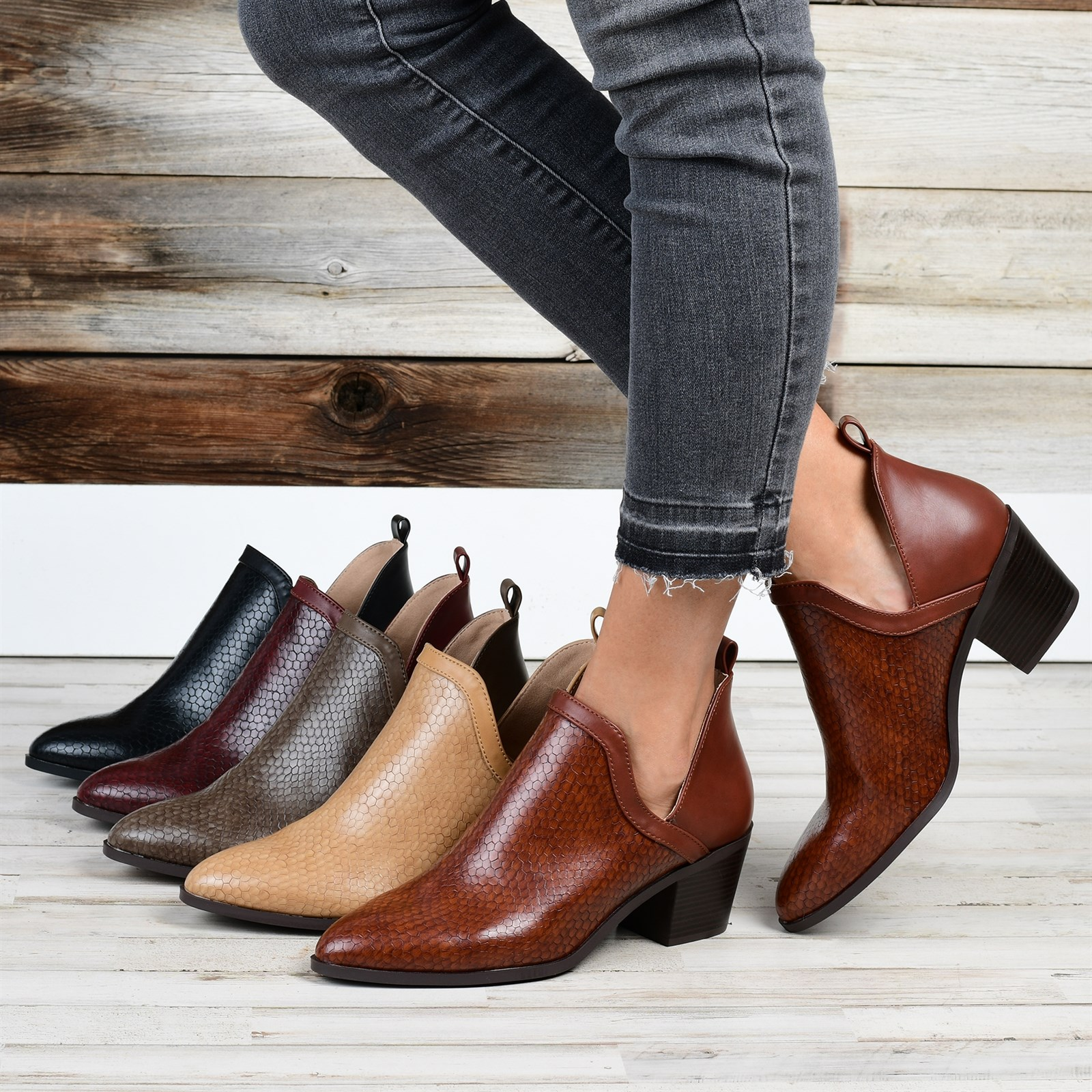 Textured Ankle Bootie Only $38.99 w/ Free Shipping