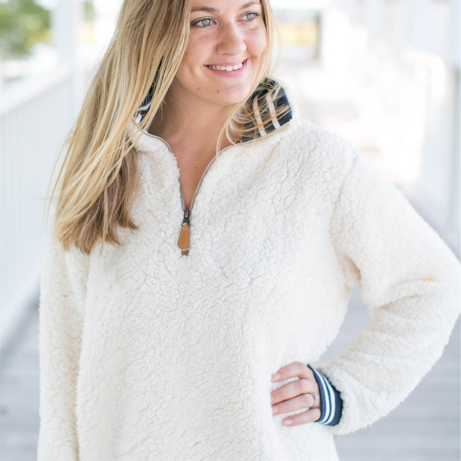 Women's Varsity Sherpa Pullover Now $28.99 w/ Free Shipping