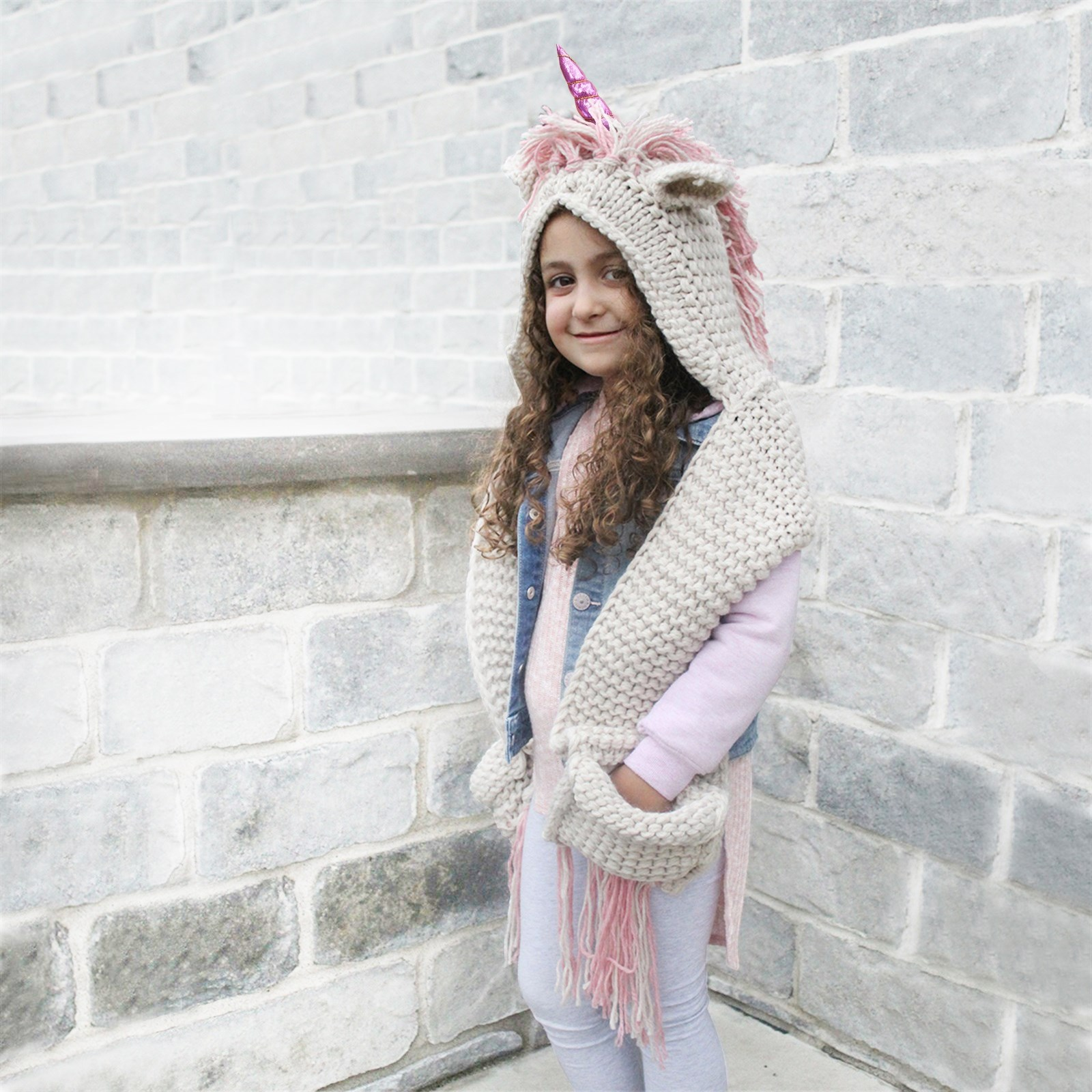 Unicorn Hooded Scarf for Girls Only $21.99 w/ Free Shipping