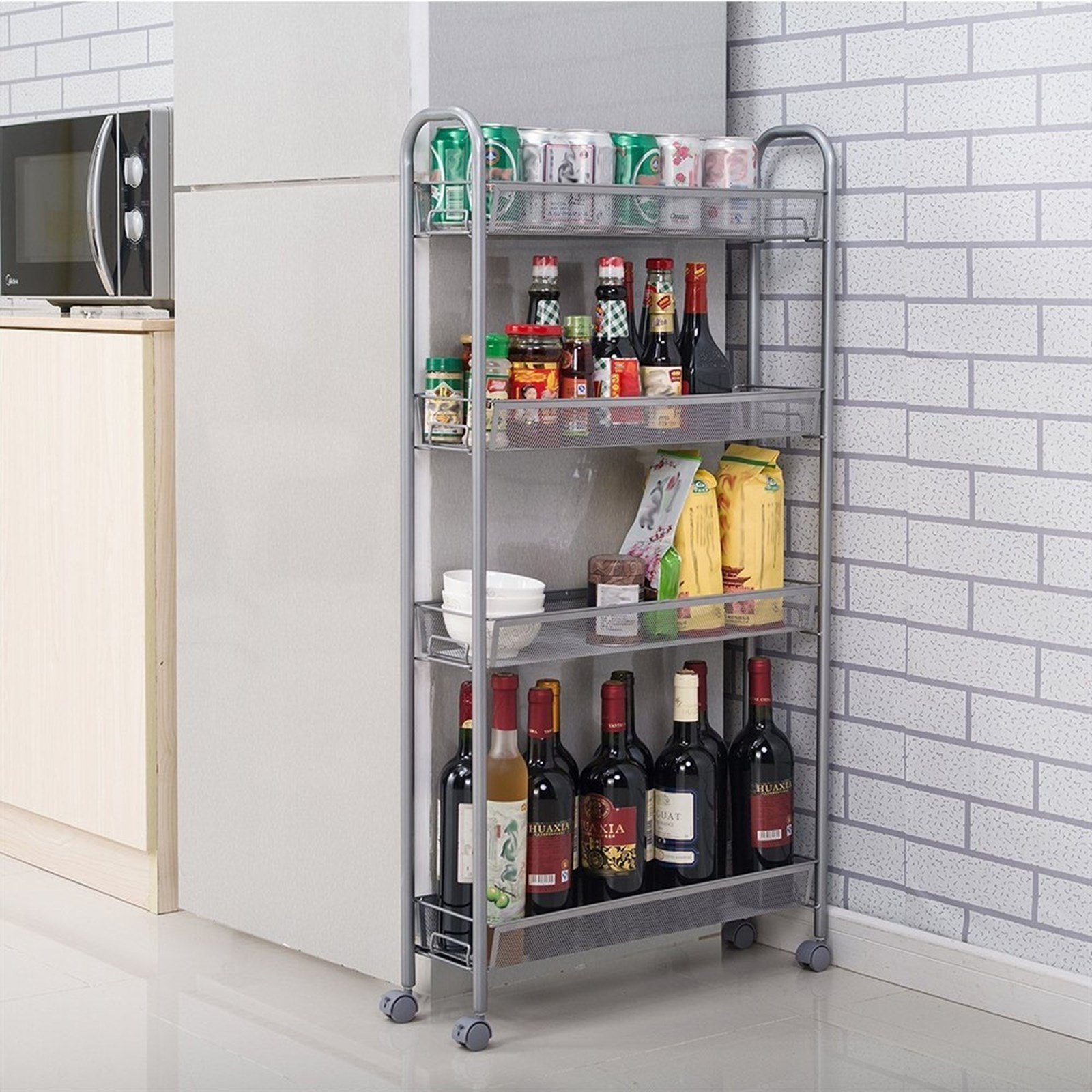 Kitchen Slide Out Storage Rack