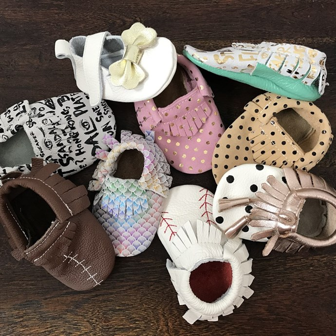 Pattern & Suede Baby Moccasins Only $15.99 w/ Free Shipping
