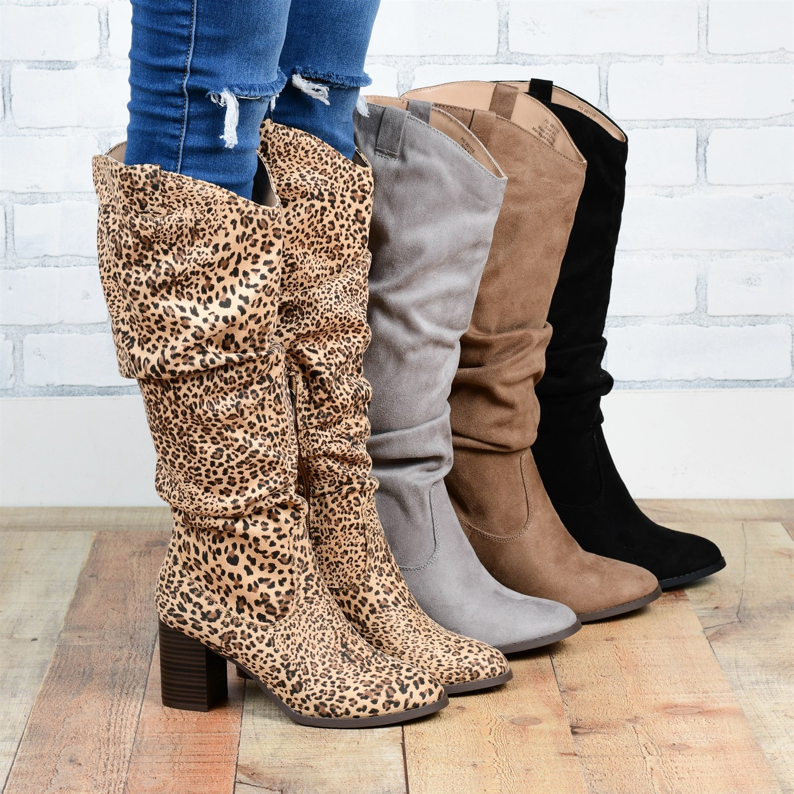 Slouch Heeled Boot